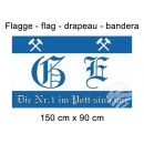 Flag 150x90 cm Gelsenkirchen are no. 1 in the pot