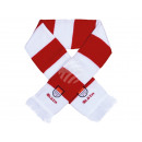 Scarf Cologne red / white striped