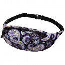 wholesale Bags & Travel accessories: Gürteltasche Hipbag Paisley Pattern Black