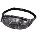 Großhandel Taschen & Reiseartikel: Gürteltasche Hipbag Marmor grau