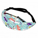 Waist bag Hipbag Flamingo light blue