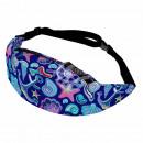 Waist bag Hipbag symbols maritime dark blue