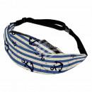 Gürteltasche Hipbag Anker Vintage maritim blau