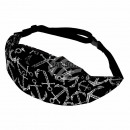 wholesale Handbags: Waist bag Hipbag anchor maritime black