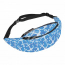 Waist bag Hipbag anchor flowers maritime blue