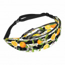 Waist bag Hipbag orange striped floral