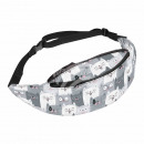 Beltbag Hipbag Cats gray white