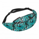 Waist bag Hipbag anchor spirals maritime blue
