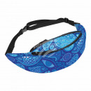 Waist bag Hipbag fish eyes abstract blue