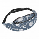 Belt bag Hipbag anchor Starfish shells gray