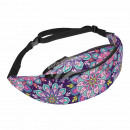 Waist bag Hipbag flowers abstract floral dark