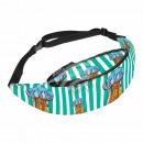 Belt bag Hipbag jellyfish maritime striped green