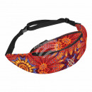 Waist bag Hipbag control wheels flowers abstract
