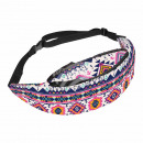 Waist bag Hipbag geometry shapes abstract white