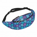 Waist bag Hipbag scales seashells maritime blue