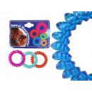 wholesale Drugstore & Beauty: Spiral scrunchy colorful transp., 3 piece on the t