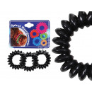 Spiral hair bands black, Ø ca. 3cm, 3Stk. Trailer