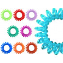 100 Spiral  scrunchy colorful  transparent, Ø ca. ...