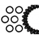 100 Spiral hair bands black, Ø ca. 5cm
