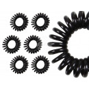 100 Spiral hair rubber black, Ø ca. 3cm