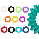 100 Spiral hair rubber multicolored, Ø ca. 3 cm