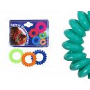 Spiral scrunchy colorful, Ø 4 cm, 3 pcs hanger