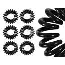 Großhandel Drogerie & Kosmetik: Spiral-Haargummis schwarz, Ø ca. 2cm