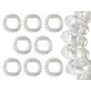 Großhandel Drogerie & Kosmetik: Spiral-Haargummis transparent, Ø ca. 3 cm