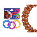 Spiral-Haargummi Farbsortierung transparent