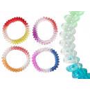 Spiral Haargummis gradient sorted, Ø ca. 5cm