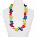 Hawaiian Flower Necklace rainbow