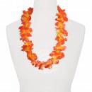Hawaiian bloem kettings oranje