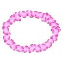 Hawaii Blumenkette classic rosa Länge: ca. 100 cm