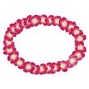 Hawaiian bloem kettings wit roze