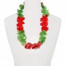 Hawaiian bloem kettings groen rood