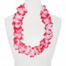 Hawaiian bloem kettings wit rood