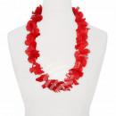 Hawaiian bloem kettings rood