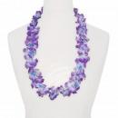 Hawaii Blumenkette classic lila weiß blau