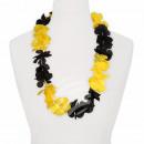 Hawaii Blumenkette classic schwarz gelb