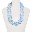 Hawaii Blumenkette classic blau weiß orange