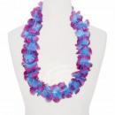 Hawaii Blumenkette classic hellblau lila