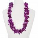 Hawaii Blumenkette glänzend lila Länge: ca. 100 cm