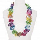 Hawaii Blumenkette glänzend multicolor