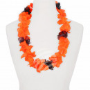 Hawaiian Flower Necklaces black orange