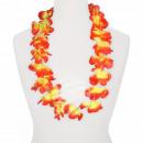 Hawaiian bloem ketting luxe geel, rood