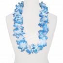 Hawaiian bloem ketting luxe wit, blauw