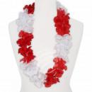 Hawaii Blumenkette Luxus rot weiß