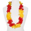 Hawaii Blumenkette Luxus rot gelb