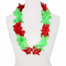 Hawaii Blumenkette Luxus rot grün