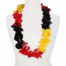 Hawaii Blumenkette Luxus schwarz rot gelb
